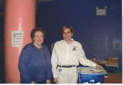 Margaret Slate delivers school supplies to an Onslow County School