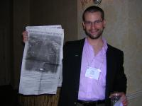 Seth Chase, AAUW staff, and 4/25/05 ad from the News and Observer